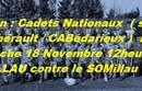 les cadets nationaux jouent dimanche ...